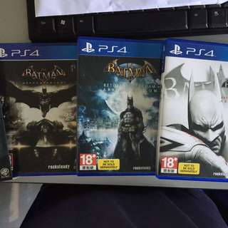Ps4 Batman Series