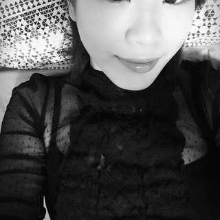 🚚 超美正韓黑色蕾絲雕花高領上衣