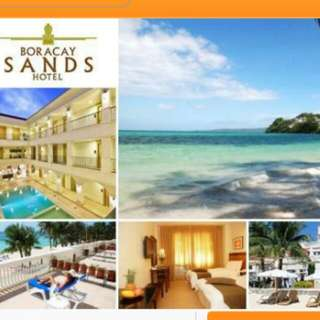 Accommodation in a Deluxe Room at Boracay Sands Hotel with Breakfast Buffet for 2 for P4999 instead of P6500
