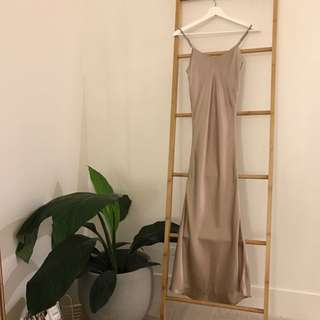 Dusty Rose 100% Pure Silk Dress