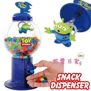 【妮醬日貨】迪士尼 三眼怪 糖果機 糖果罐 扭蛋機造型 收納罐 MM巧克力 雷根糖 142126