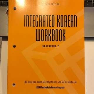 Integrated Korean Workbook (Korean 2)