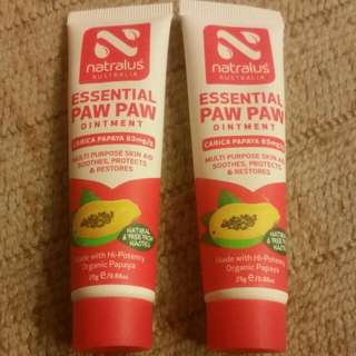 2 X Natralus Essential Paw Paw Ointment 25g