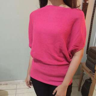 baloon pink sweater