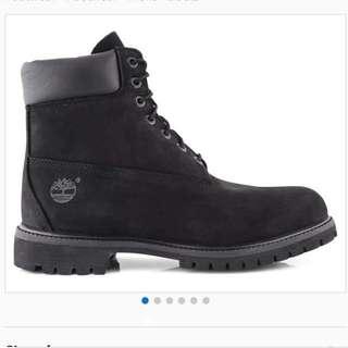 "New Timberland 6"" Premium Black Waterproof Boots Size 10"