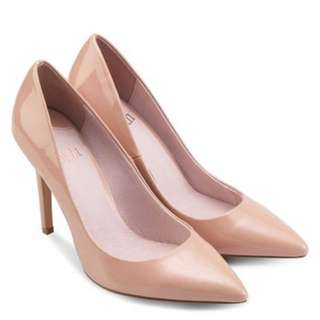 Faith Light Pink Pointed Toe Court Shoes