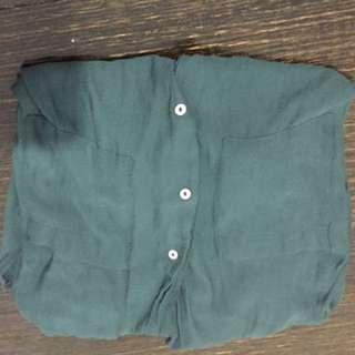 H&M Sheer Green Shirt
