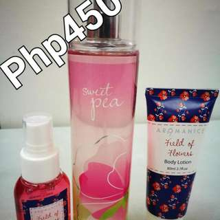 BBW Sweet Pea scent (giving away 2 items as seen on the pics for free) #Win1000