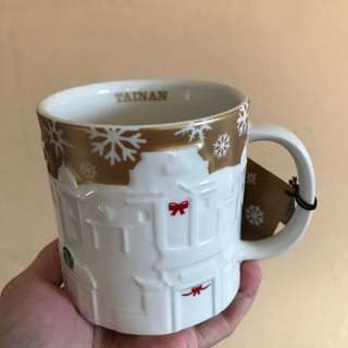 Starbucks Tainan Gold Relief Mug