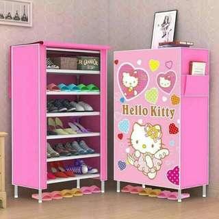 6 Layer Hello Kitty Shoe Rack