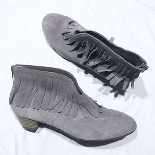 Promod Fringe Ankle Boots Suede material