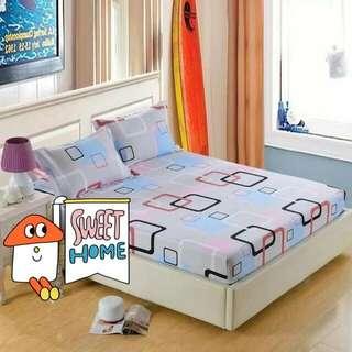 灰底簡約幾何圖形床罩 床單 枕頭套 枕套