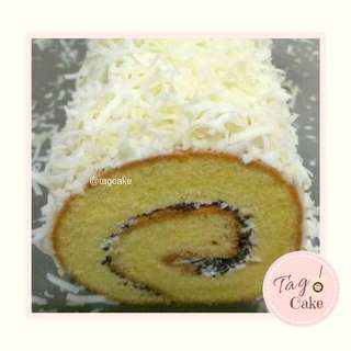 Chocolate Cheese Swiss Roll Cake