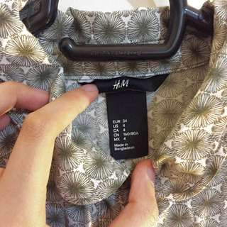 H&M Semi Peplum Top