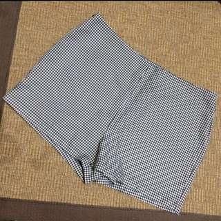 Black&White Highwaist Plaid Shorts