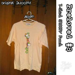 Preloved #8 @OmahPiyique - T-Shirt ORIGINAL SNOOPY with hat Sablon Vertikal Peach #WardrobeSale #OriginalProduct