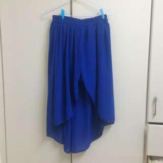 寶藍雪芳紗裙