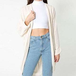 American apparel Cream Boucle Cardigan