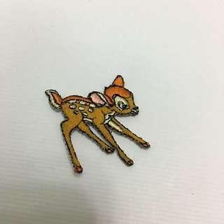 小鹿斑比刺繡貼布