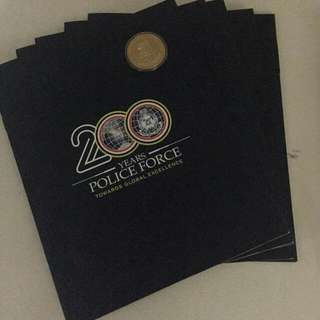 200 years police coincard