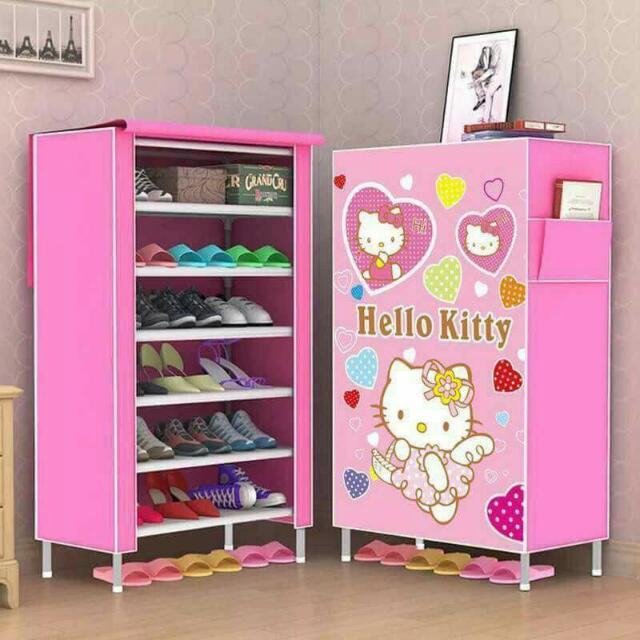 6 Layer Hello Kitty Shoe Rack