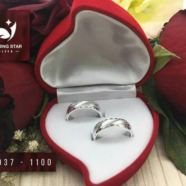 92.5 Sterling Silver Couple Ring