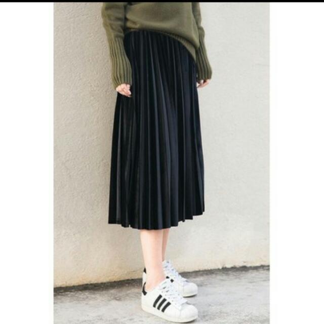 韓版百折裙