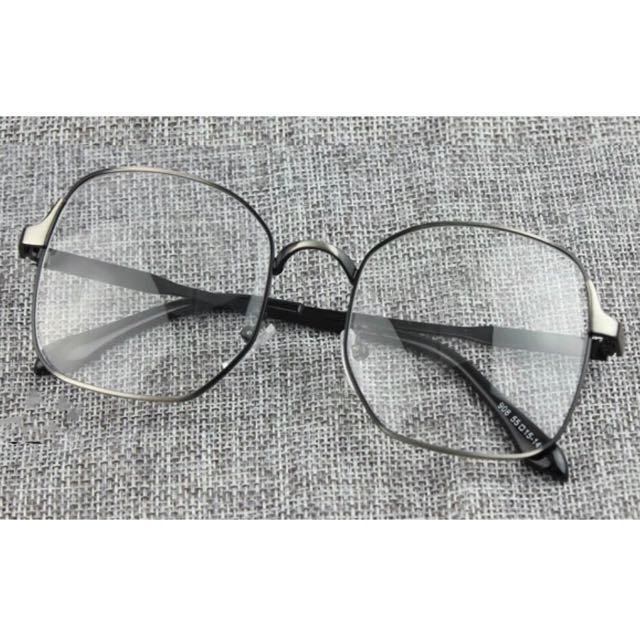 復古 文青 方框 平光 眼鏡 鏡框