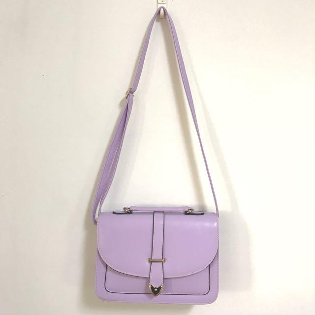 浪漫 夢幻 紫色 公主 甜美 肩背