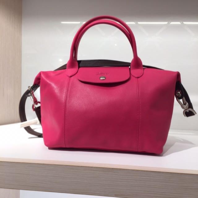 全新 正品 真品 Longchamp 小羊皮 撞色 拼色 手提斜背包 法國購回 收單到6/26