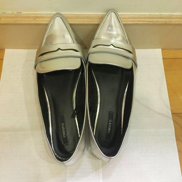 Forever21銀色平底鞋