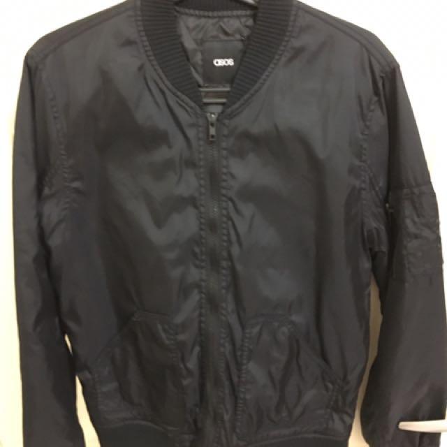 Asos 薄型 夾克ma1 s號 全黑