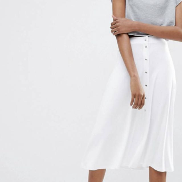 ASOS white Maxi Skirt