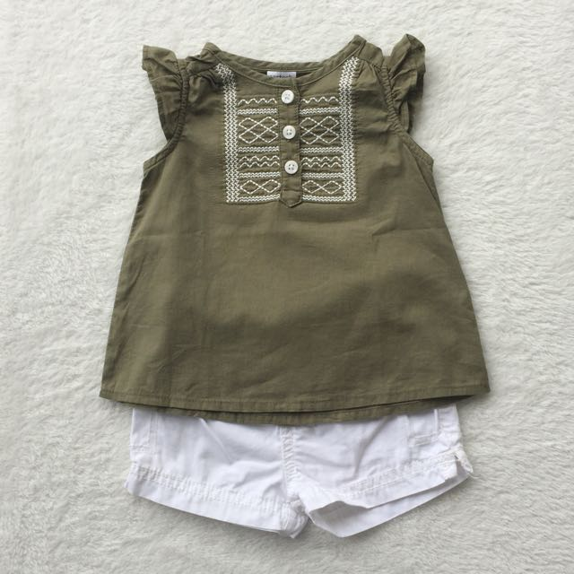 AUTHENTIC CARTER'S TANK SET (MOSS GREEN)