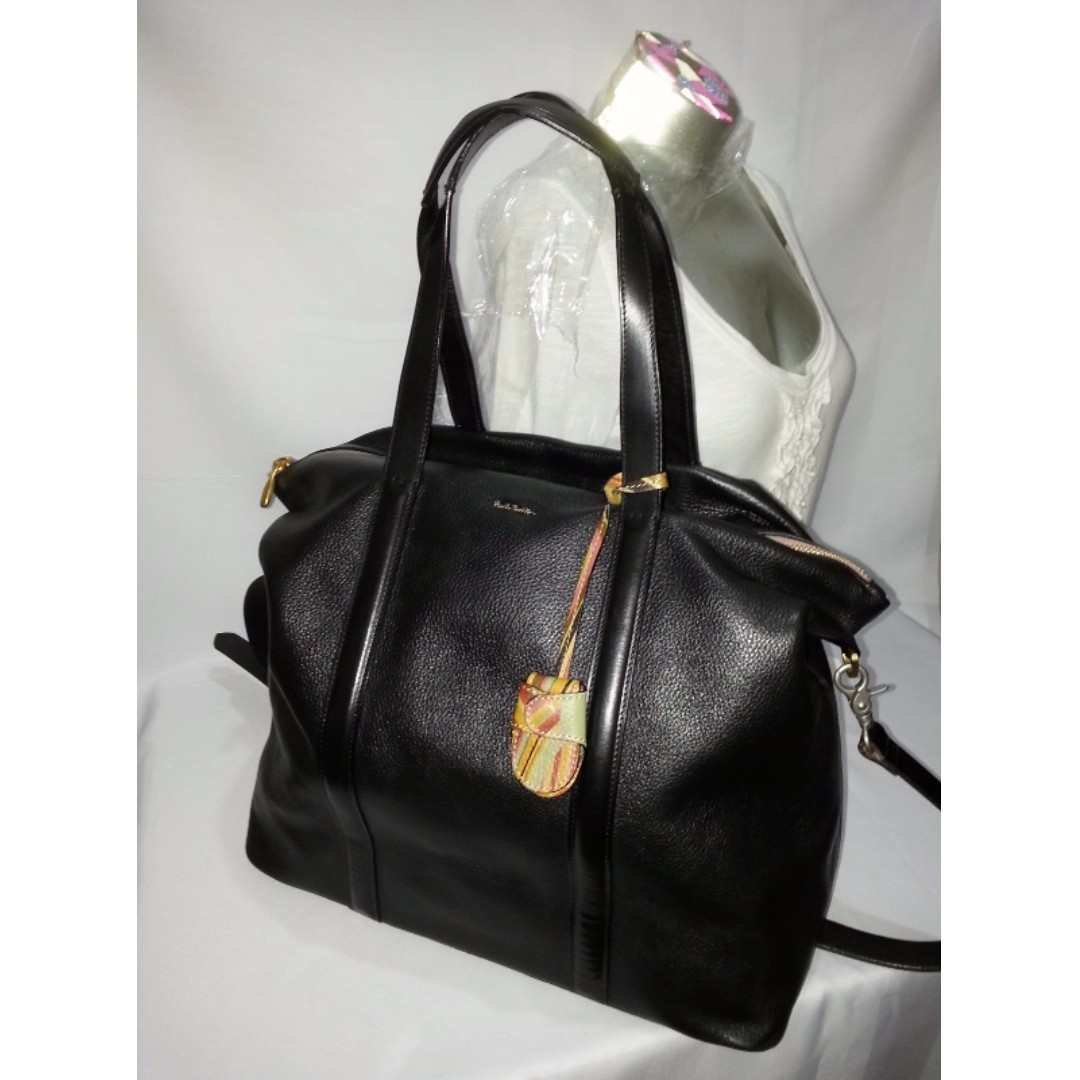 Authentic Paul Smith Large Leather Tote Bag