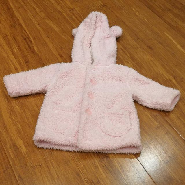 Baby Pink Fluffy Jacket Size 000