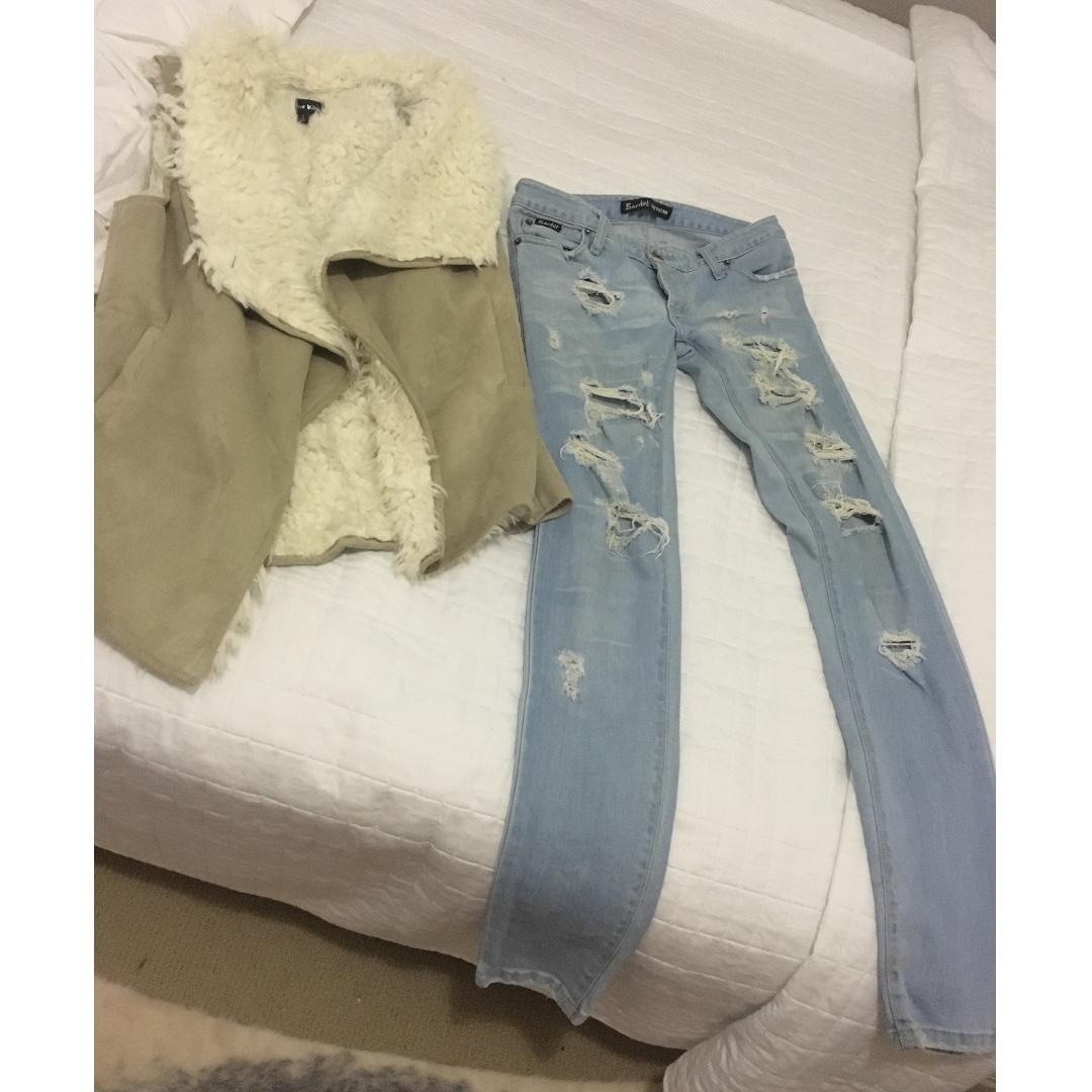 bardot low rise jeans 7