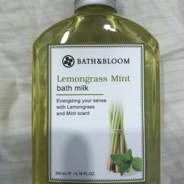 Bath And Bloom (Lemongrass Mint) Bath Milk