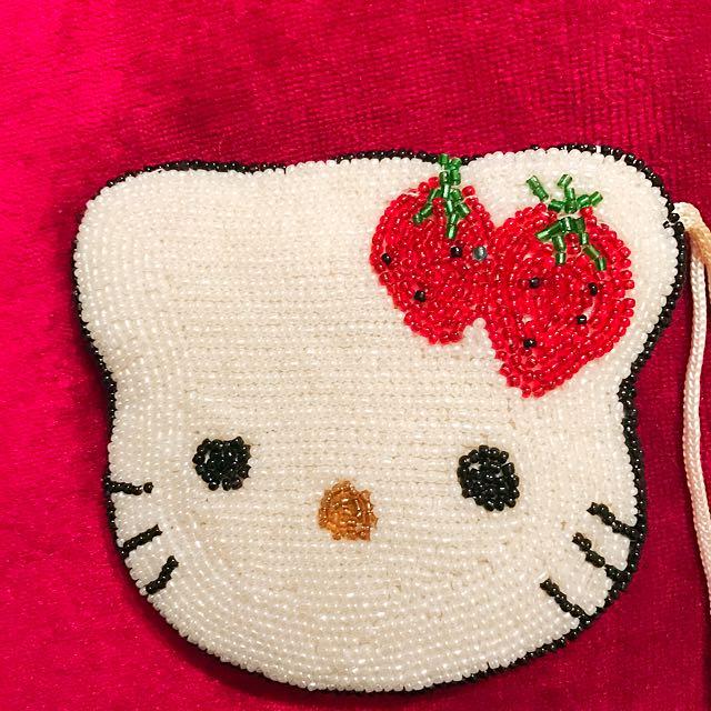 Beaded Hello Kitty Wallet
