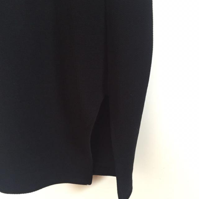 Black Split Skirt