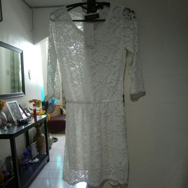 Bnew White Dress Medium