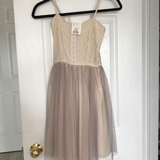 BNWT Cream/Pink Tule Dress