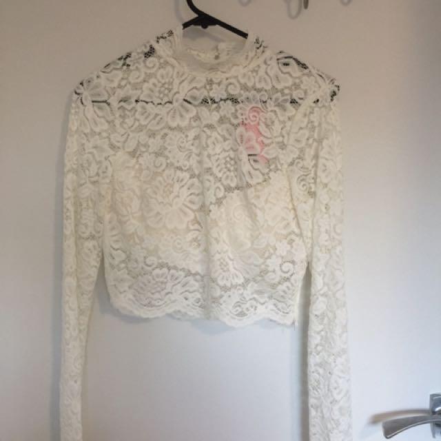 Boho Lace Crop Top