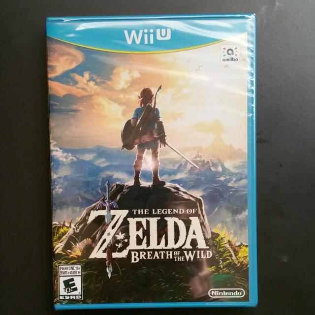 Brand New Opened Zelda breath Of The Wild For Wii U