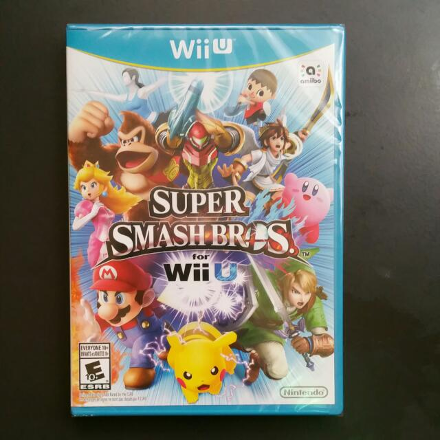 Brand new unopened Super Smash Bros Wii U
