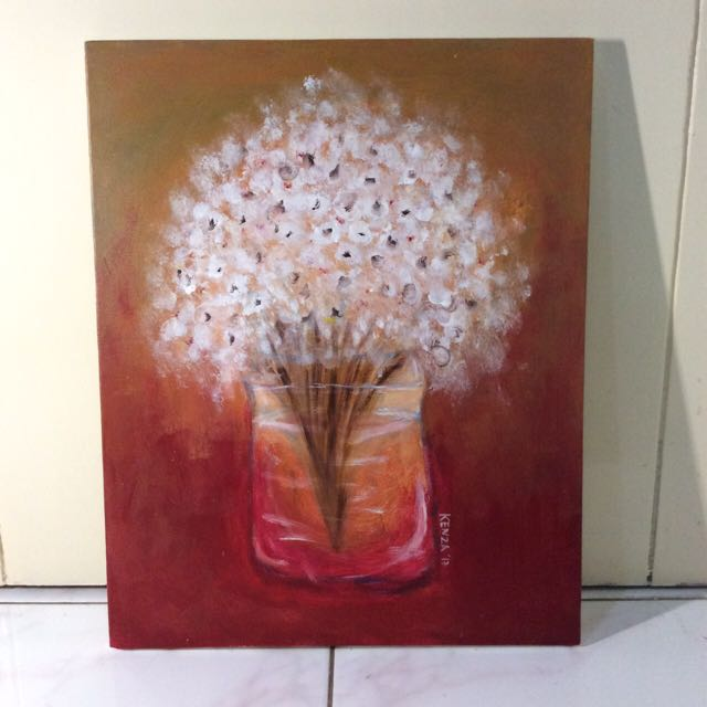Canvas Oil Painting : Baby's Breath
