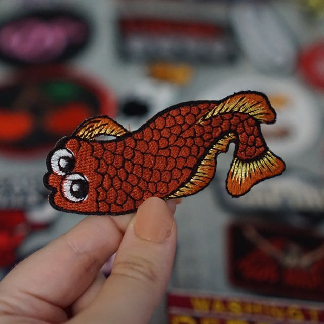 Cartoon Koi Fish Patch