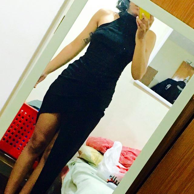 Chiffon boutique Black Dress