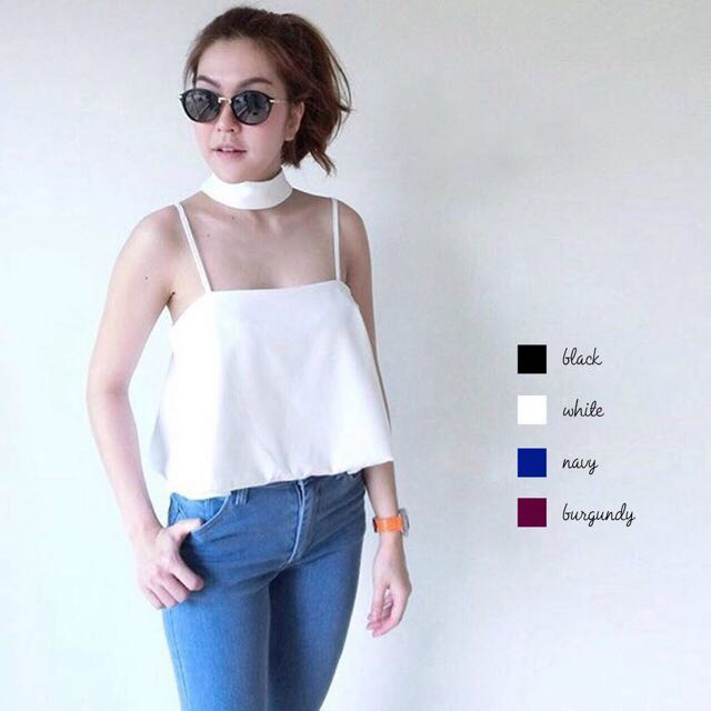Collar Tank Cami Top Chocker