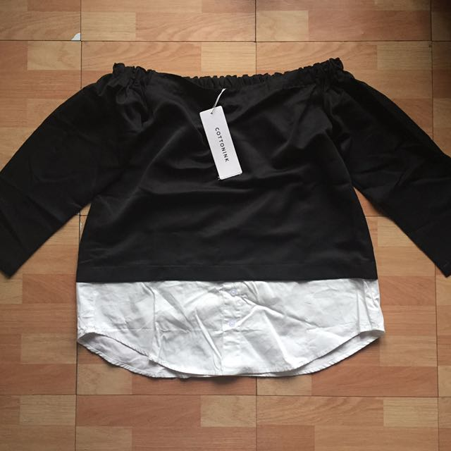 Cotton Ink Black And White Blouse